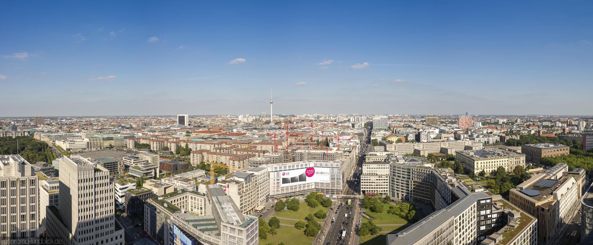 Panoramablick vom Kollhoff-Tower | Potsdamer Platz | Berlin