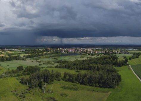 Regengüsse hinter Altshausen