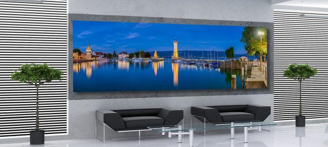 Panorama-Wandbild Hafen Lindau
