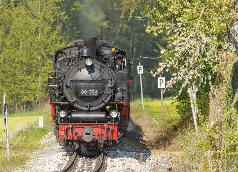 Die Lok Berta auf der Strecke Ochsenhausen-Warthausen