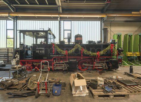 Die Lok Mallet von Ochsenhausen in Reparatur