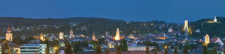 Historische Altstadt Ravensburg und die Leuchttürme