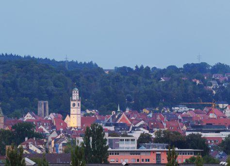 Historische Altstadt Ravensburg zur blauen Stunde