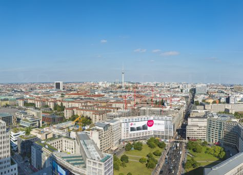 Blick vom Kollhoff-Tower, Potsdamer Platz, Berlin