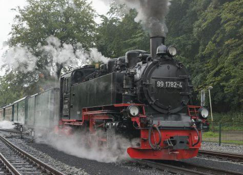 Rasender Roland, Ausfahrt Bahnhof Göhren, Insel Rügen