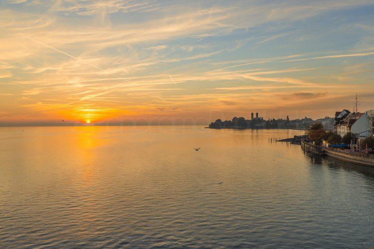 Sonnenuntergang in Friedrichshafen