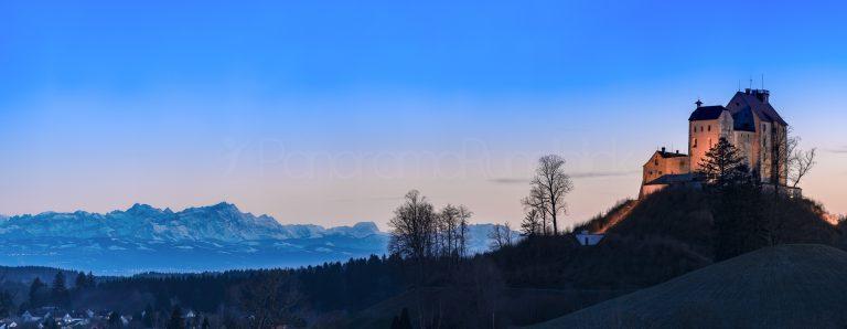 Waldburg mit Alpenpanorama, Säntis